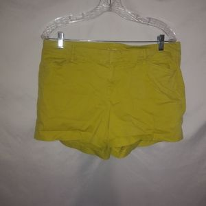 Old Navy Lime Short Shorts Size 12